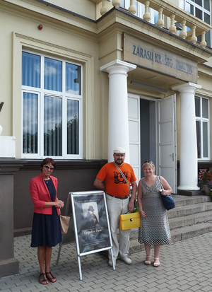 Vitebsko srities kraštotyros muziejaus direktorius Glebas Savickij ir vyresnioji mokslinė bendradarbė Svetlana Kot, Zarasų krašto muziejaus direktorė Ilona Vaitkevičienė. 2014 m. rugpjūtis.